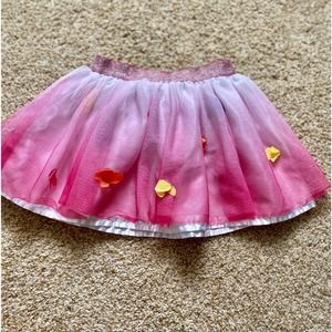 1989 Place girls 4T pink floral skirt